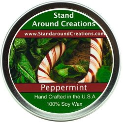 Premium 100% All Natural Soy Wax Aromatherapy Candle – 4 oz Tin Peppermint: Irresistible a ...