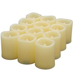 Led tealight Candles, Flameless Flickering Votive Candles Battery Operated with Auto – Off ...