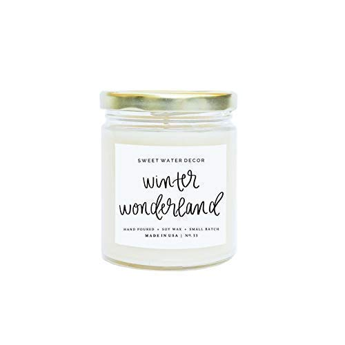 WINTER WONDERLAND SOY CANDLE 9oz | Handmade in the USA with 100% Soy Wax | Birthday Gifts for Wo ...