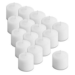 Simplicité Unscented Votive Candles Set of 84 in White | Hand-Poured Candles with Finest Wax Ble ...