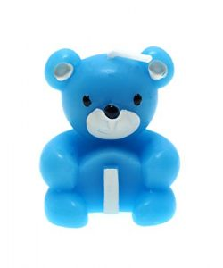 CREATIONTOP Teddy Candle with Glow Stick in The Dark, Birthday Candles Newborns, 1st Birthday,We ...