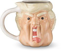 Decodyne Donald Funny Novelty Mug – 20 Oz – Hand Painted Donald Trump Face Shape Cer ...