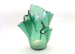 Vase Candle – Sea Green Cathedral Draped Refillable Vase with Free Spring Rain Half Candle ...