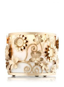 Bath and Body Works Spring Flowers 3 Wick Candle Sleeve.