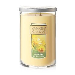 Yankee Candles Flowers in the Sun Large 2-Wick Tumbler Candle, Fresh Scent