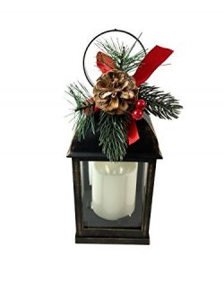 Small LED Candle Lantern for Winter and Christmas Centerpiece Decoration