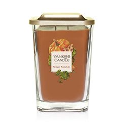 Yankee Candle Company Elevation Collection with Platform Lid, Large 2-Wick Square Candle, Ginger ...
