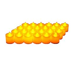 24 Pack LED Tea lights Candles – Flickering Flameless Tealight Candle – Battery Operated Electro ...