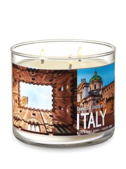 Bath & Body Works 3 Wick Scented Candle- Cannoli & Chocolate – ITALY – 14.5 Ounce