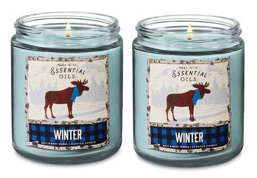 Bath Body Works Single Wick Candle 7 Oz. 2 Set Winter. - candlesme | candlesme