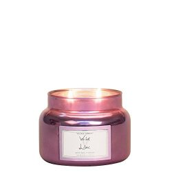 Village Candle Wild Lilac 11 oz Metallic Jar Scented Candle, Small