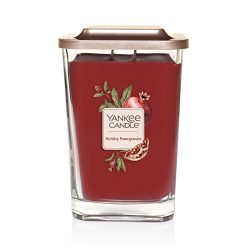 Yankee Candle Company Elevation Collection with Platform Lid, Large 2-Wick Square Candle, Holida ...