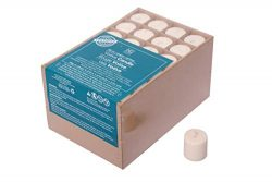 Hosley Set of 72 Unscented Ivory Votive Candles up to 10-Hours. Bulk Buy. Wax Blend. Ideal for W ...