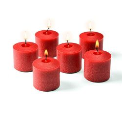 Red Votive Candles 10 Hour Burn Holiday & Home Decoration Candles Made in The USA HIGLOW (12)