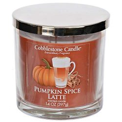 Pumpkin Spice Latte Scented Candle with Three Wicks