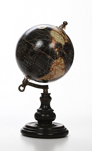 Hosley 10″ High Globe on Wooden Stand. A Great Gift for Father's Day, for Your Home, ...