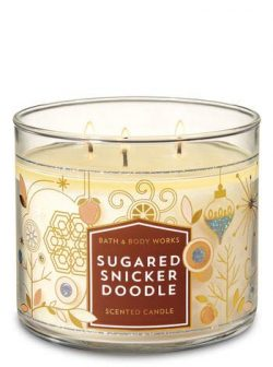 White Barn Bath & Body Works 3 Wick Candle Sugared Snicker Doodle