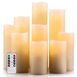 Enpornk Flameless Candles Battery Operated Candles 4″ 5″ 6″ 7″ 8″  ...