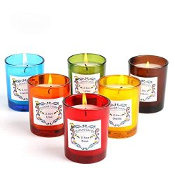 Laluztop Scented Candles(Lavender,Lilac,Orchid, Rose, Lotus,Gardenia) 100% Soy Candles Scented a ...