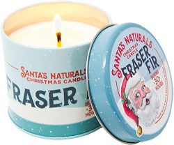 Santa's Naturals Fraser Fir Christmas Candle | Amazing Christmas Tree Fragrance | 30-Hour  ...