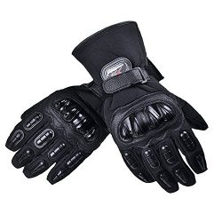VRLEGEND Winter Gloves Men Warm Waterproof Motorcycle Cycling Gloves Bicycle Gloves (Tag M=US S)