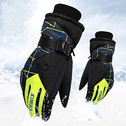 Winter Gloves Cold Weather Windproof Thermal Gloves Cycling Running Outdoor Activities Ski Glove ...