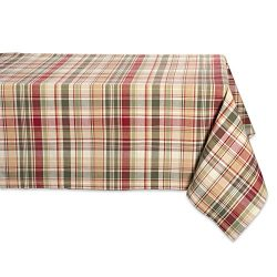 Cabin Plaid Square Tablecloth, 100% Cotton with 1/2″ Hem (60×104″ – Seats ...