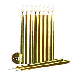 Gold Birthday Candles 45 Pack – Dripless Decorating Candle for Centerpiece Holders, Cakes  ...