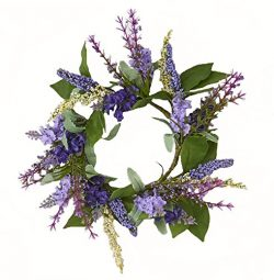 Worth Imports W/Leaf Lavender Candle Ring withLeaf, 3.5″