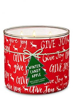 Bath & Body Works 3-Wick Candle in Winter Candy Apple (GIVE Joy 2018)