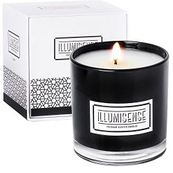 ILLUMISENSE Premium Scented Candles, All Natural, Soy Wax Candle With Unique Fragrance | 75-80 H ...