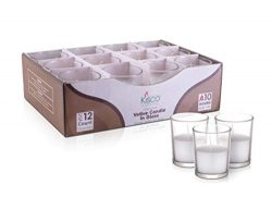 KISCO CANDLES: 10 Hour Votive Candles with Holders Clear Decorative Glass Home Decor, Beautiful  ...