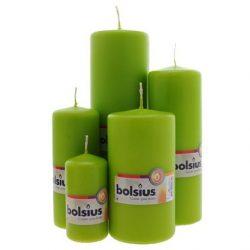 BOLSIUS Spring Green Pillar Candle – 20cm x 7cm
