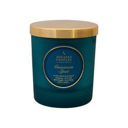 Shearer Candles Cinnamon Spice Scented Jar Candle with Lid, Teal by Shearer Candles