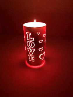 American Star Valentine's Day LED Candles Color Changing with Remote Romantic Gift Present ...