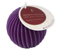 Honey Candles Ornamentals-Fluted Sphere-Violet