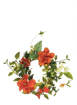 Sullivans Artificial Wildflower Candle Ring Wreath, 12″