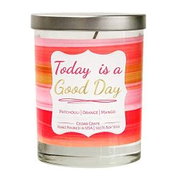 Cedar Crate Market Today is a Good Day. Patchouli | Orange | Mango Scented Candle 100% Soy Wax C ...
