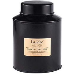 LA JOLIE MUSE Tobacco Soy Scented Candle – 13Oz Natural Wax Sweet Home Fragrance in Large  ...