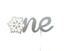 CMS Design Studio Handmade 1st First Birthday Cake Topper Decoration – one with Snowflake  ...
