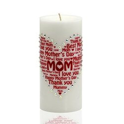 Sam & Wishbone Mother's day candle – Special Mom Mother's Day Gift Heart Design  ...