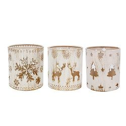 Kindgoo Pen Pencil Holder Desk Pen Organizer Cute Christmas Theme Candle Holder 3×3.6 inch  ...