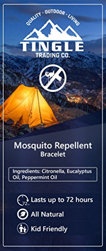 Tingle Trading Co. Mosquito Repellent Bracelet (4-Pack) Natural Insect and Bug Repellers | Indoo ...