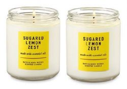 Bath and Body Works Sugared Lemon Zest Single Wick Candle 7 Oz. 2 Set
