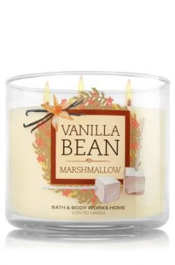 Bath & Body Works Scented 3-Wick Candle in Vanilla Bean Marshmallow (14.5oz)