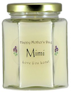 Just Makes Scents Mimi Mothers Day Candle – Gardenia Scented Mothers Day Gift Candle ̵ ...