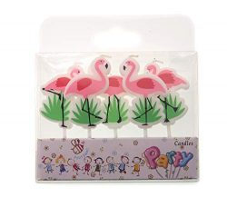 Creationtop Birthday Candles Newborns, 1st Birthday,Wedding Love Candles for Cake (Flamingo)
