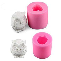2 Pack Owl Candle Mold, Buytra 3D Silicone Mold for Homemade Candle, Mini Soap, Lotion Bar, Fond ...