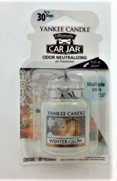 Yankee Candle Ultimate Car Jar Odor Neutralizing Air Freshener – Winter Glow