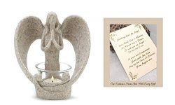 Sending You an Angel Candle Holder to Express Sympathy for Funeral Or Memorial Comfort The Griev ...